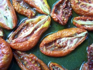 Oven preserved tomatoes