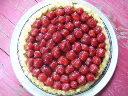 Fresh Strawberry and Ginger Rhubarb Tart