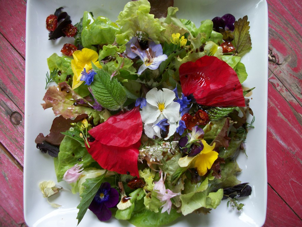 Greens, Herbs & Edible Flowers