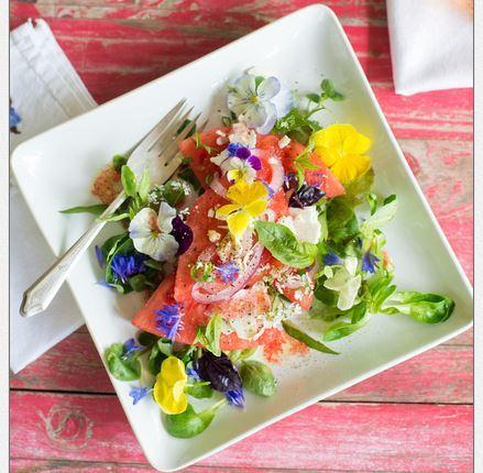 watermelon salad, small